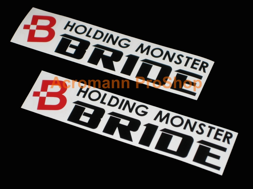 BRIDE 6inch Decal (Style#6) x 2 pcs